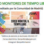 Curso Monitor Tiempo Libre Oficial Madrid ARPA4 Aula Virtual